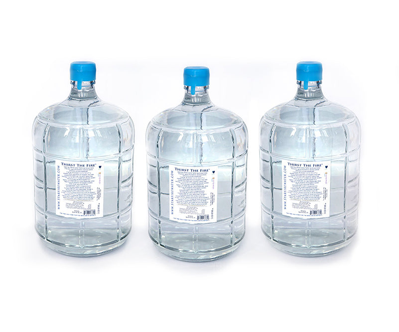Starfire Water • alkaline water pH 8.5+ with Etherium Gold • 3-gallon Glass Jugs (subscription)