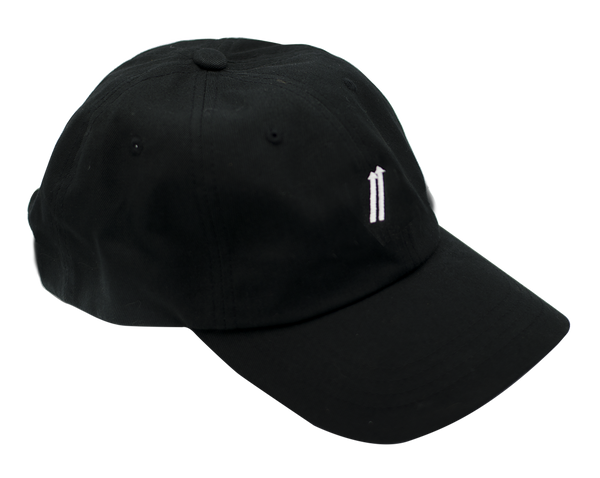 Strapback Baseball Hat - Black