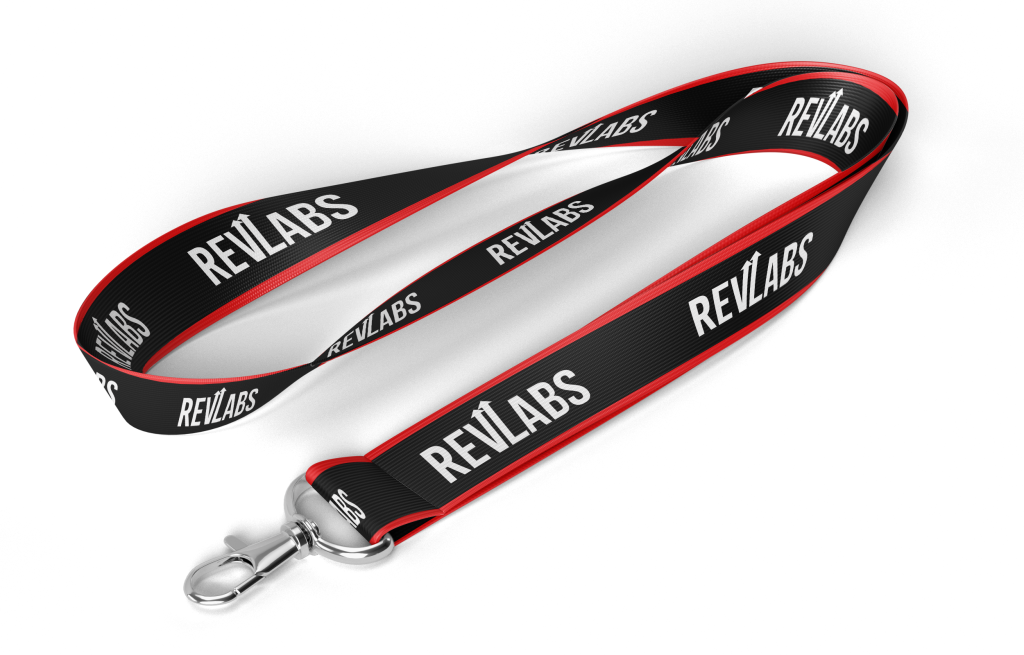 Revlabs Squad Lanyard With Logo + Crew Neck T-Shirt For Men Red Bundle