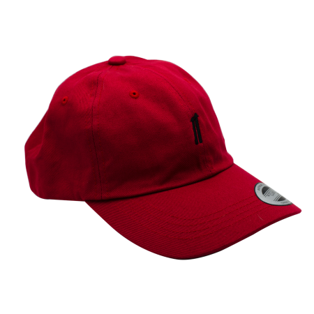Strapback Baseball Hat - Cranberry