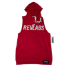 Red Light-Weight Cut Off Hoodie (Unisex)