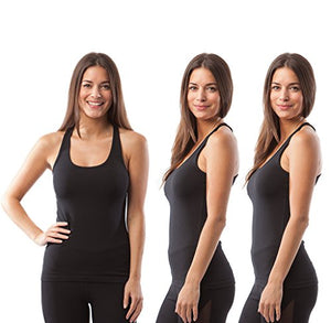 1f877ca662445 90 Degree By Reflex - Power Flex Racerback Tank Top - Black 3 Pack ...