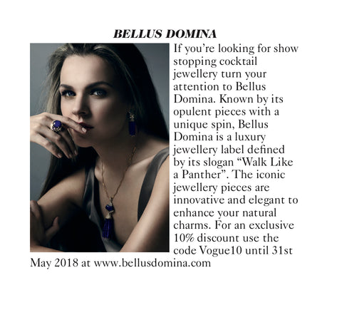Bellus Domina jewellery in Vogue
