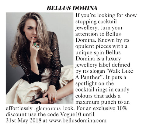 Vogue X Bellus Domina Jewellery