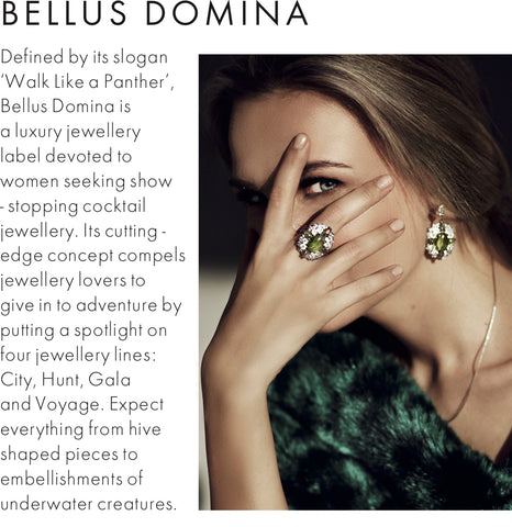 Bellus Domina jewellery featured in Elle Magazine