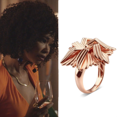 Rose Plated Sea Flower Ring Dynasty x Bellus Domina