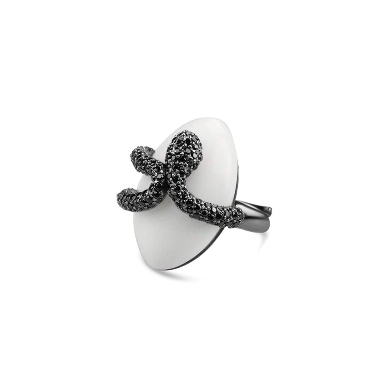 Adjustable Sea Snake Cocktail Ring