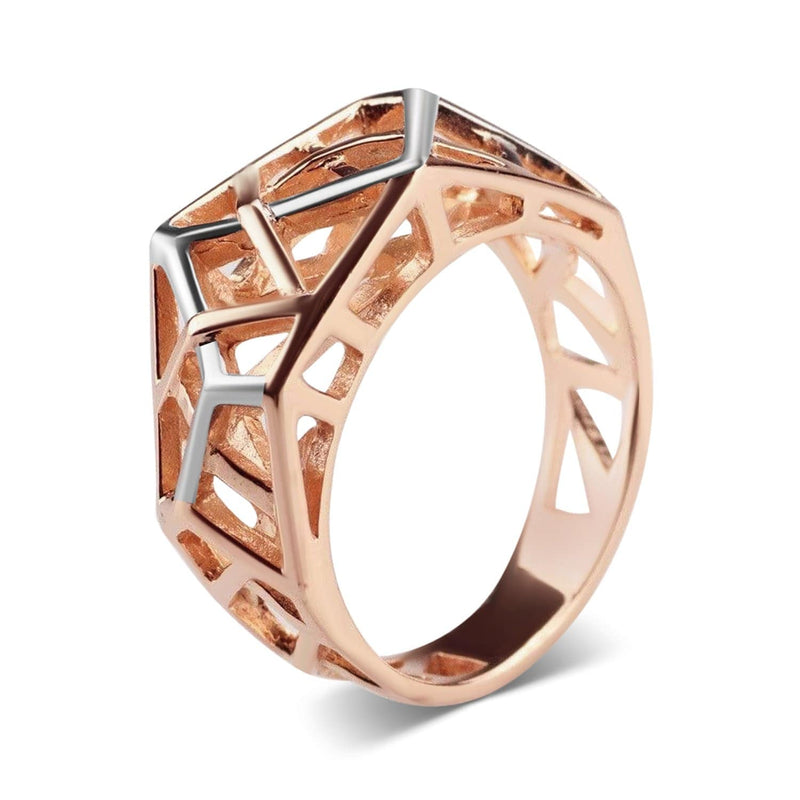 Rose Gold Plated Crossover Ring