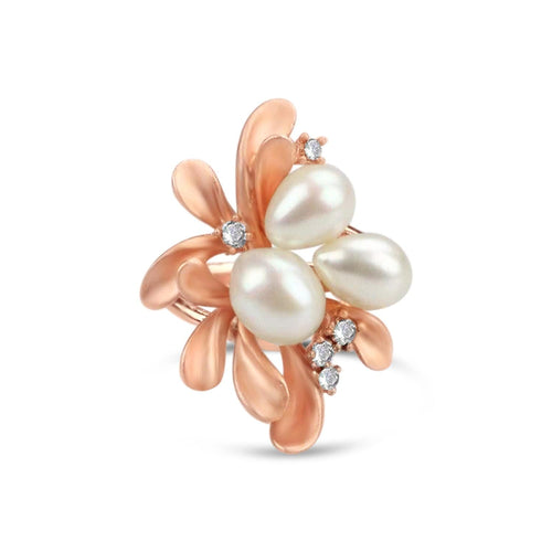 Gold Plated Freshwater Pearl Ring