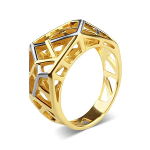 Gold Plated Crossover Ring