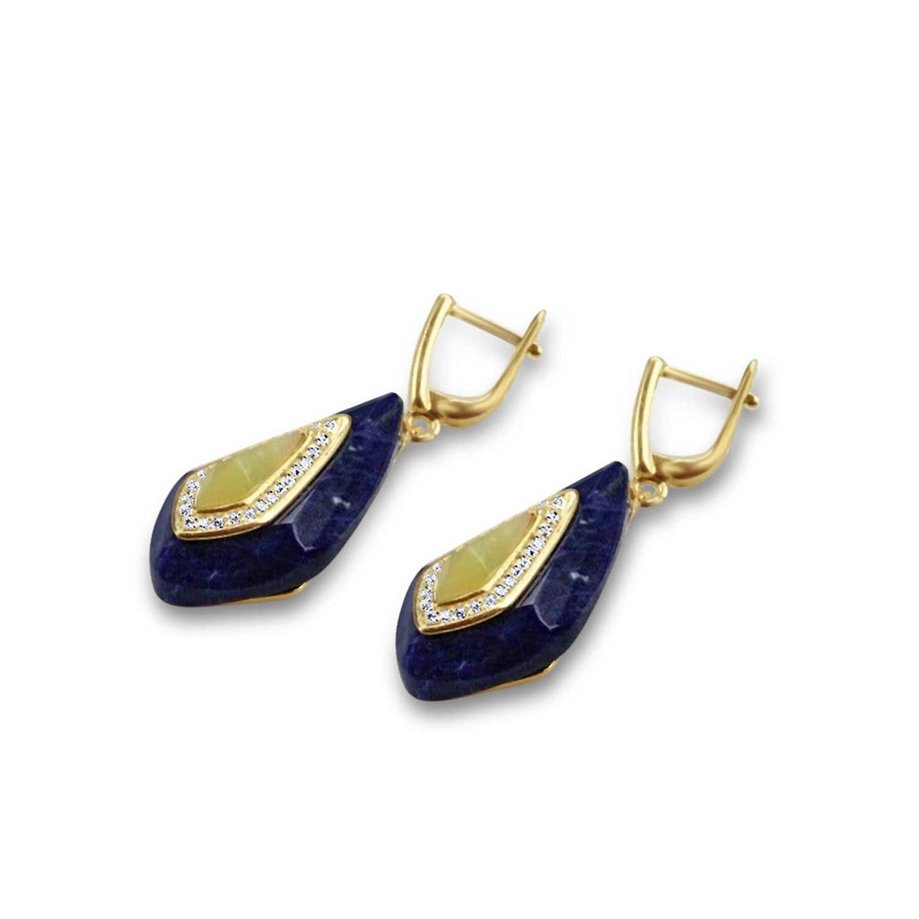 Lemon Jade Silver Earrings