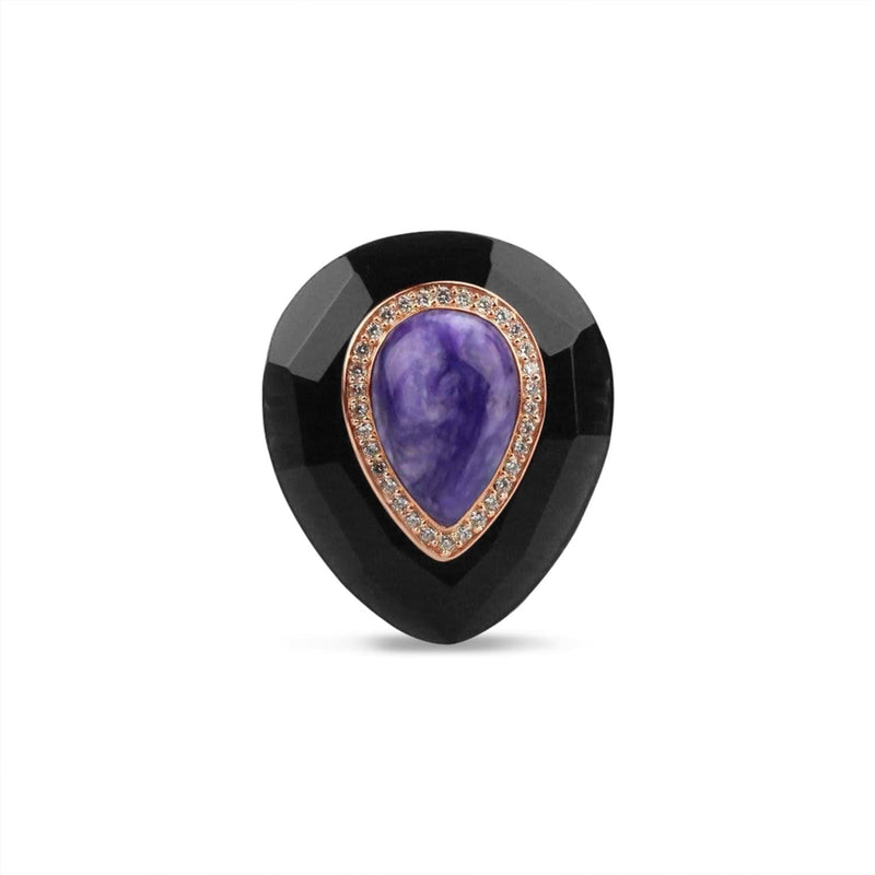 Gold Plated Charoite Ring