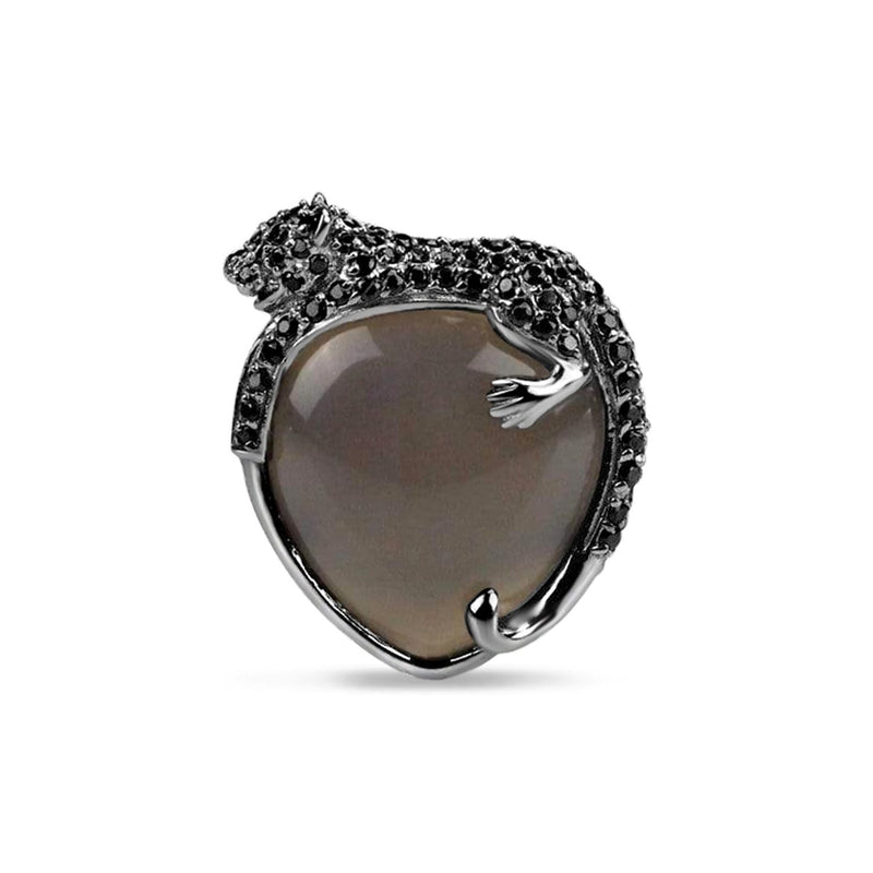 Agate Umbra Black Panther Cocktail Ring