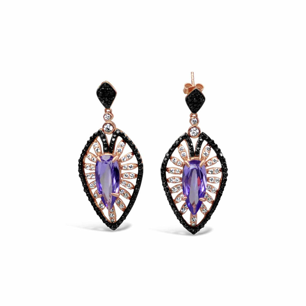 Violet Drop Earrings