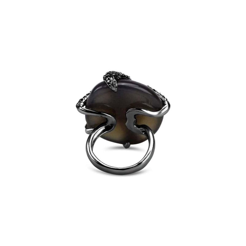 Agate Umbra Starfish Cocktail Ring