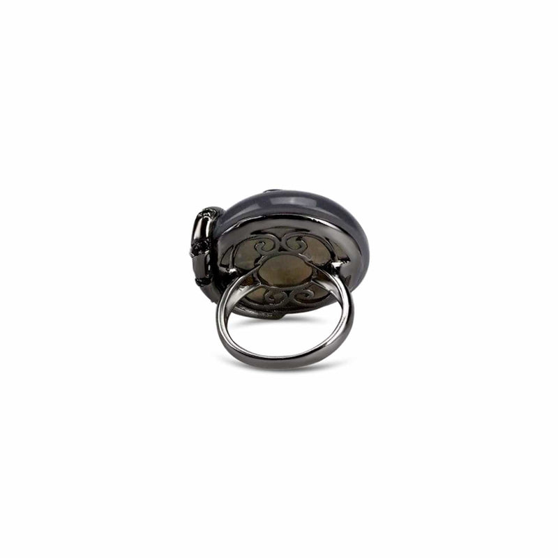 Agate Umbra Serpentine Cocktail Ring