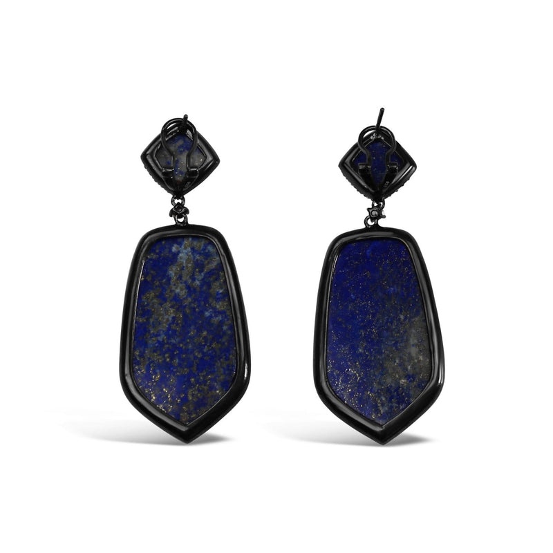 Sterling Silver Lapis Lazuli Dangle Earrings