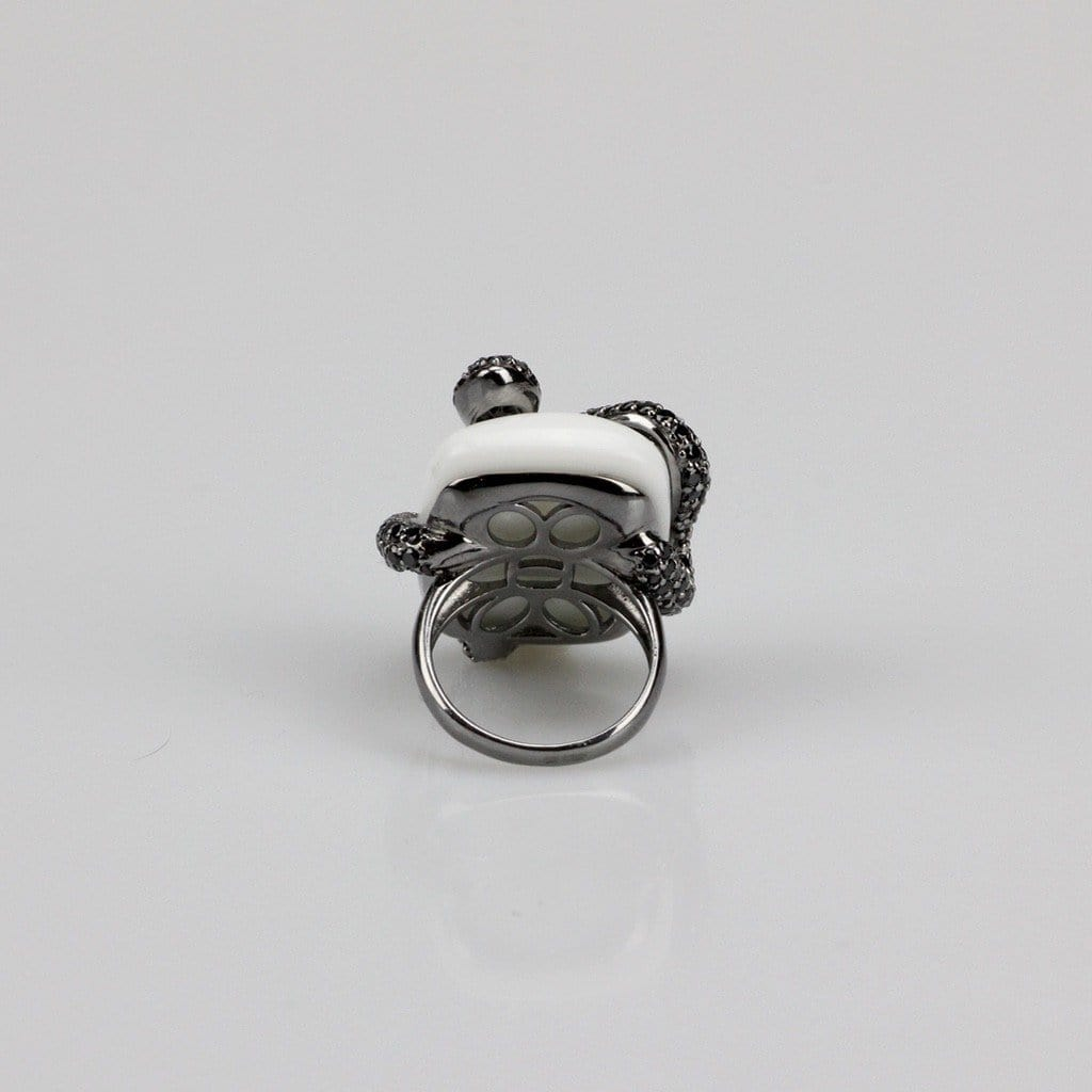 Sterling Silver Snake Cocktail Ring