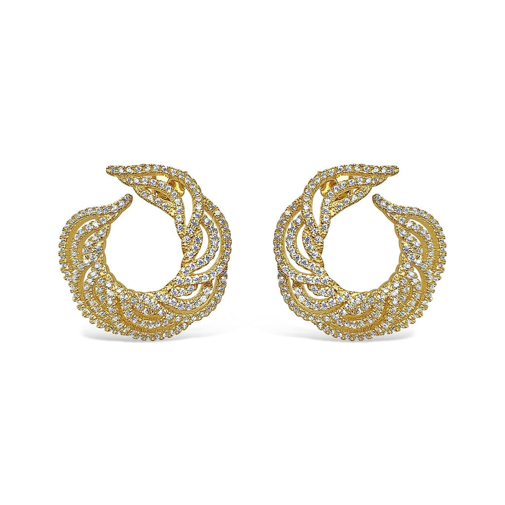 Gold-plated Silver Hussar Earrings