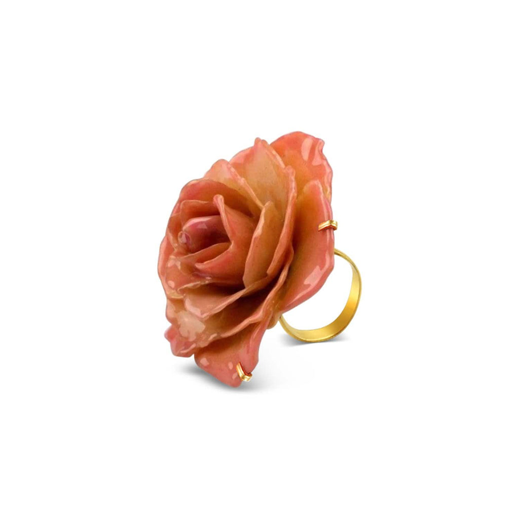 Natural Rose Cocktail Ring