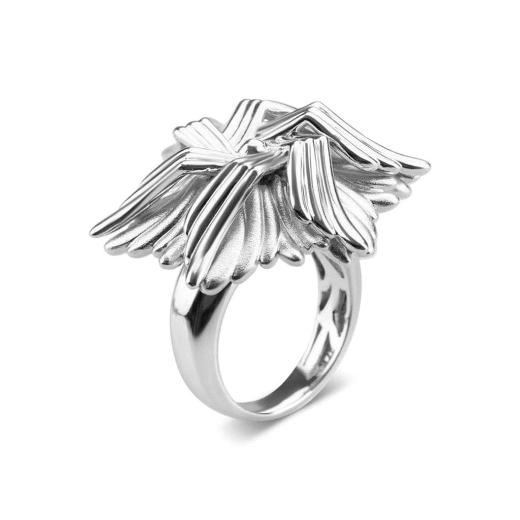 White Gold Plated Sea Flower Ring