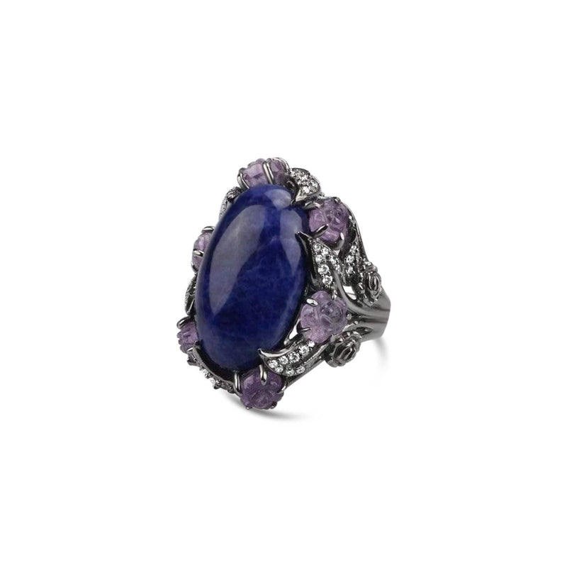 Sterling Silver Sodalite Cocktail Ring