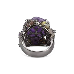Sterling Silver Amethyst Cocktail Ring