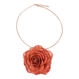 Natural Rose Brooch & Necklace