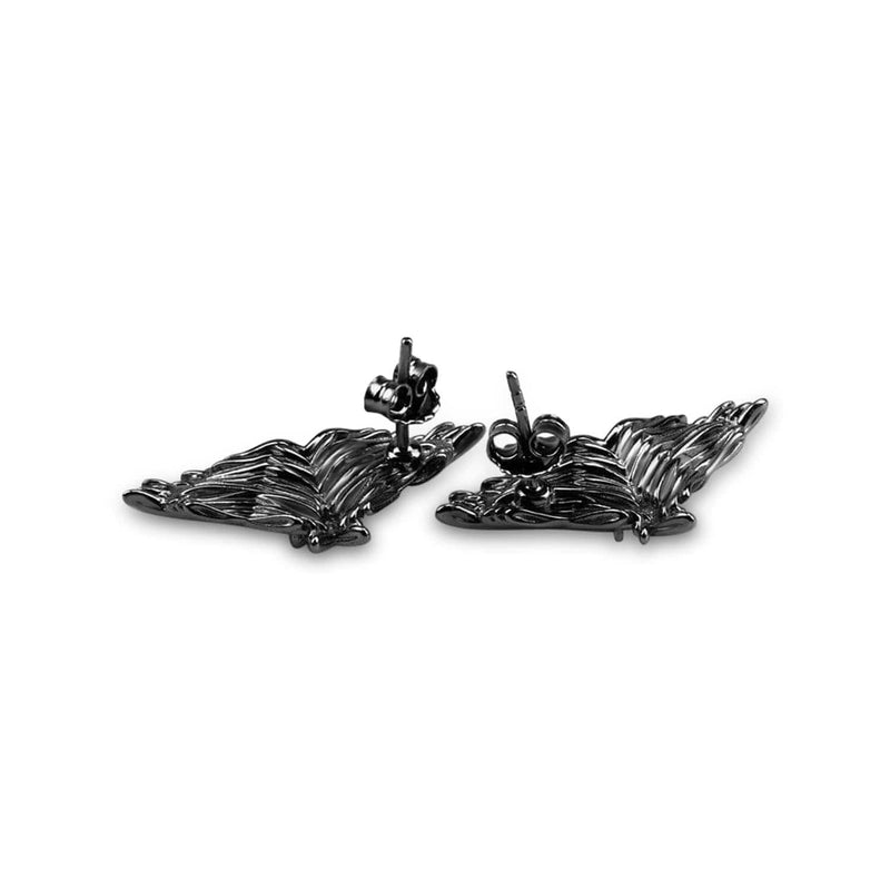 Rhodium Plated Angel Wings Earrings