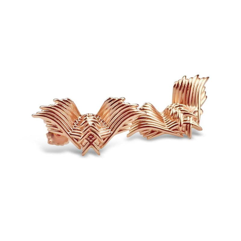 Rose Gold Plated Angel Wings Earrings