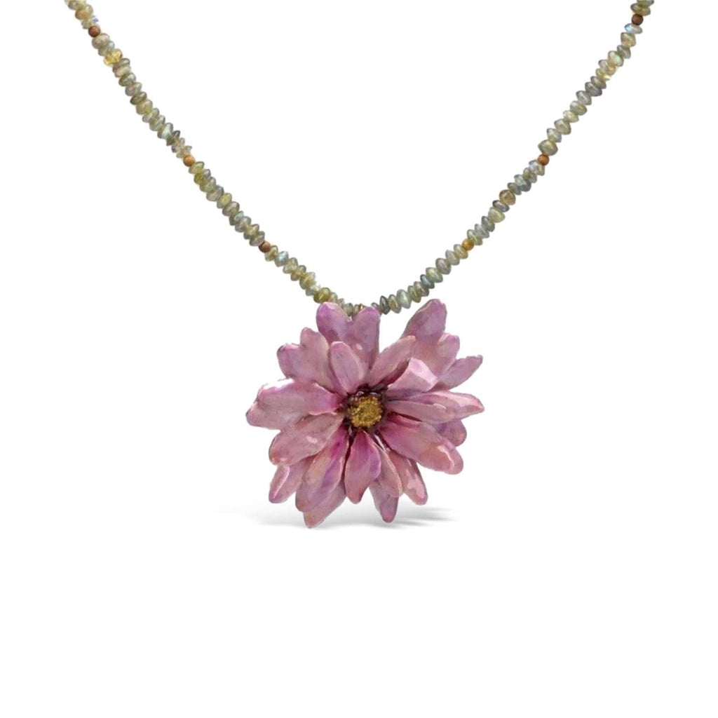 Natural Daisy and Peridot Necklace