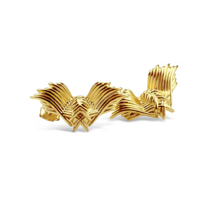 Gold Plated Angel Wings Earrings