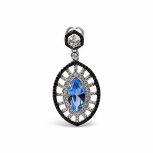 Sterling Silver Blue Zirconia Pendant