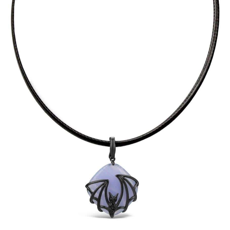 Agate Bat Necklace
