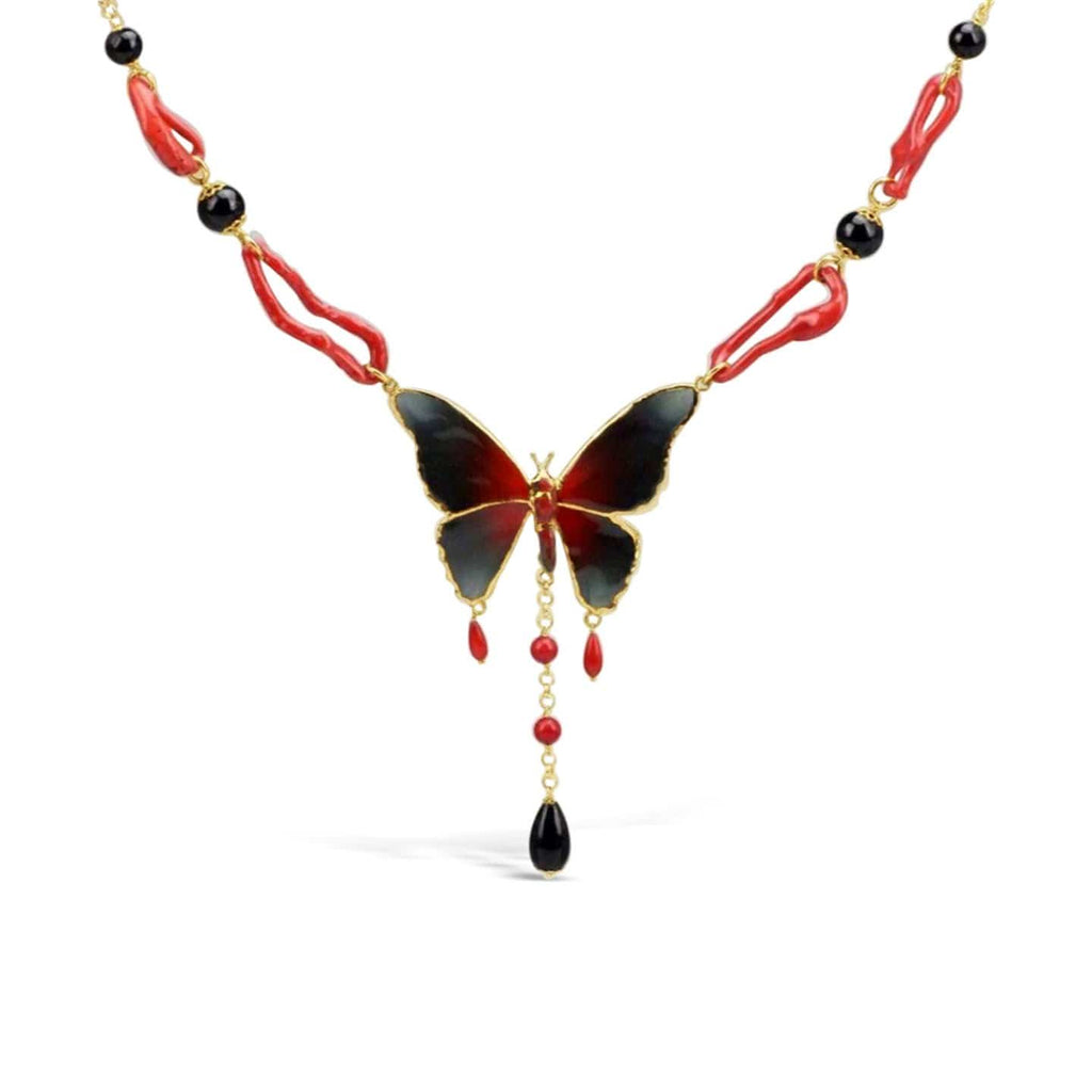 Butterfly and Coral Necklace Butterfly and Coral Necklace
