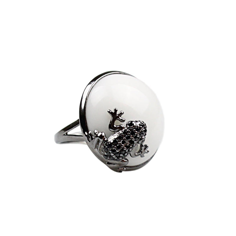 Sterling Silver Frog Cocktail Ring