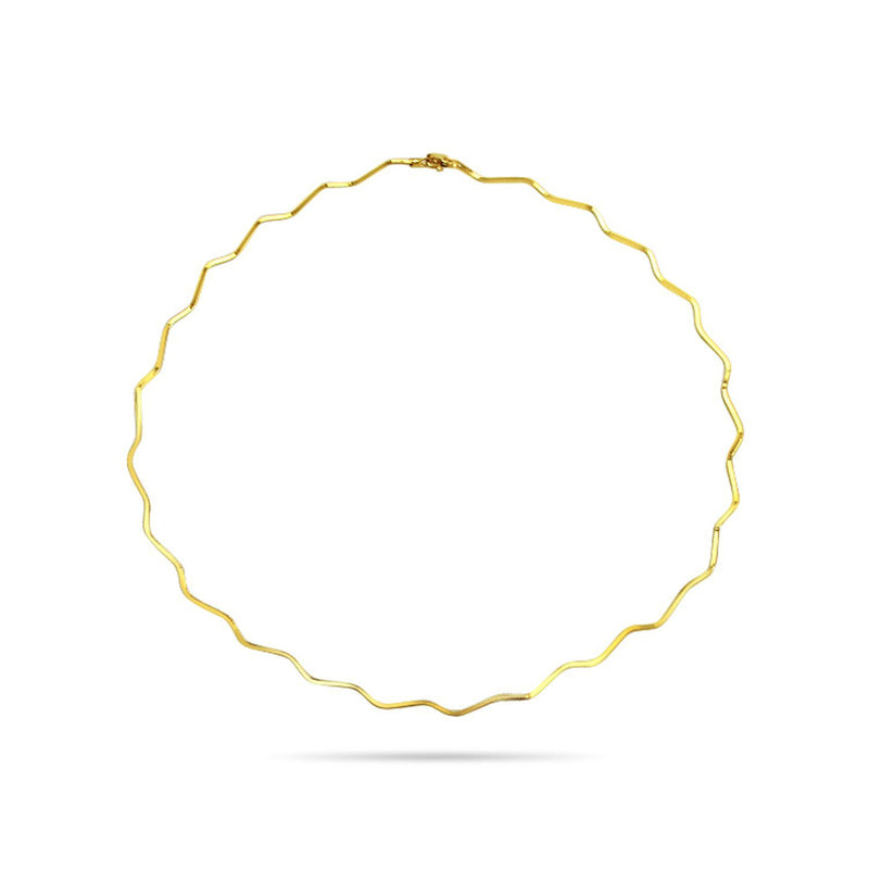 Gold-plated Sterling Silver Choker Necklace