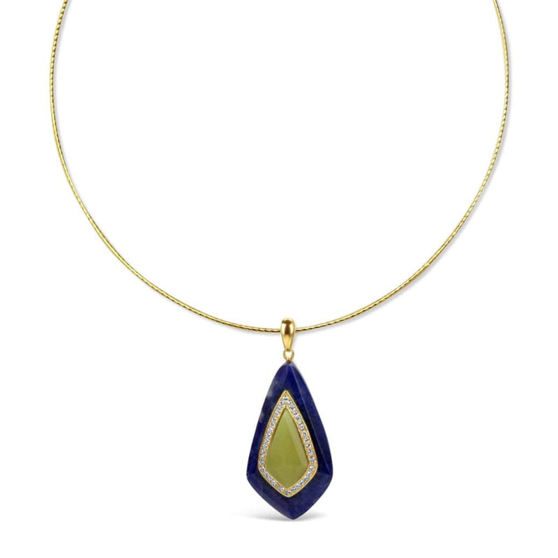 Gold Plated Jade Necklace