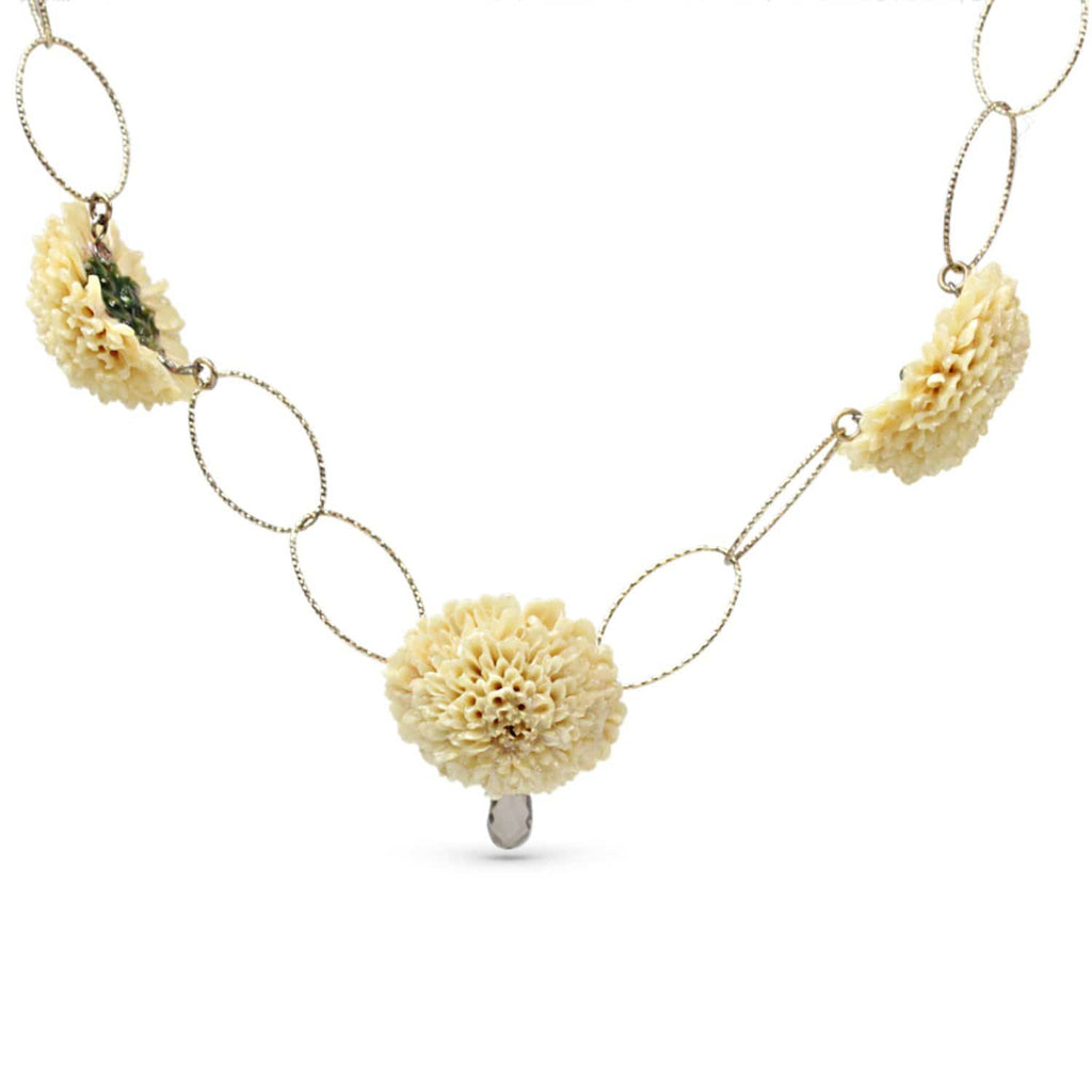 Creamy Dahlia Necklace