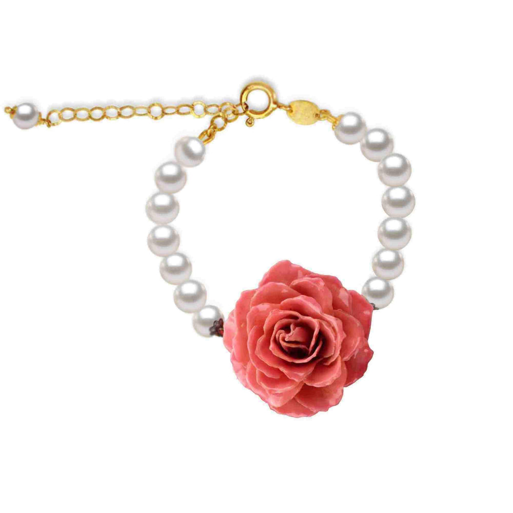 Natural  Rose Pearl Bracelet