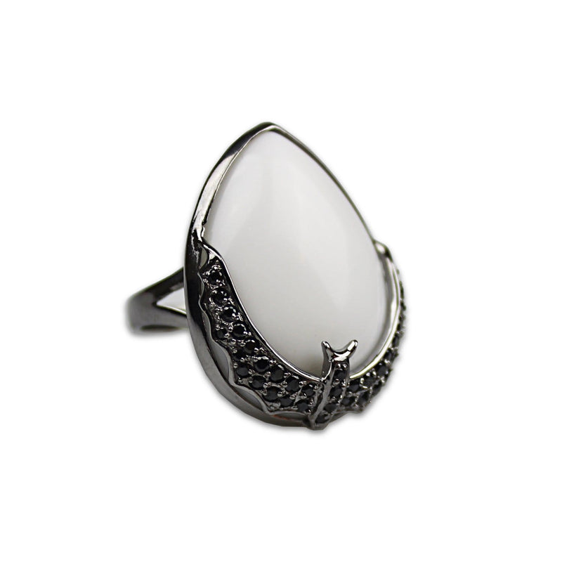 Sterling Silver Bat Cocktail Ring