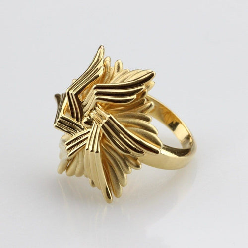 Gold Plated Sea Flower Ring