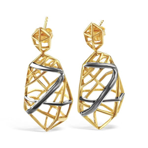 Gold Plated Crossover Earrings