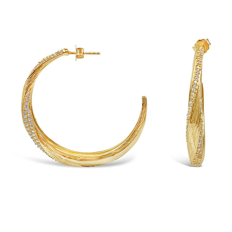 Gold-plated Silver Hoop Earrings