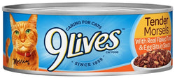9 Lives Tender Morsels with Real Flaked Tuna and Egg Bits in Sauce Canned Cat Food