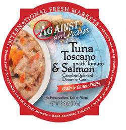 Against the Grain Tuna Toscano with Salmon and Tomato Dinner Canned Cat Food
