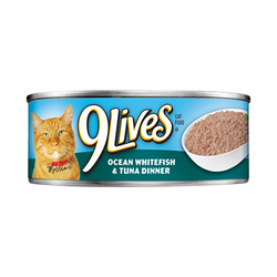 9 Lives Ocean Whitefish and Tuna Dinner Canned Cat Food