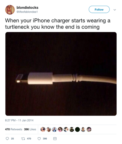 Funny tweet about battery anxiety