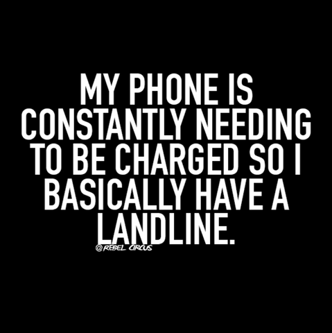 quote about how needing a cord is like a landline
