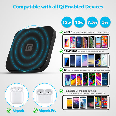 wireless charger for iphone, samsung and other models